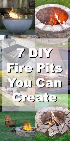 7 DIY Fire Pits You Can Build in Your Garden. Bury concrete in dirt under sand pit. (Sunken fire pit) Cover fire pit with board. Then cover with sand. DIY Outdoor Decor #diy #homedecor #outdoorentertaining