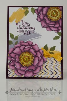 Blended Bloom Meets Work of Art from Stampin' Up! by hvanlooy - Cards and Paper Crafts at Splitcoaststampers