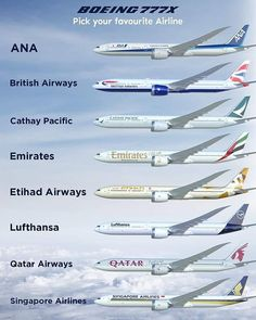 Type your favorite Airline in the comments. Boeing 777x, Commercial Aircraft, Stunts, Type, Drones, Airplane, Lovers, Instagram, Plane
