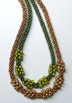 Kumihimo Jewelry Free Patterns | Cluster Bead Necklace Kits - 2 New Colors