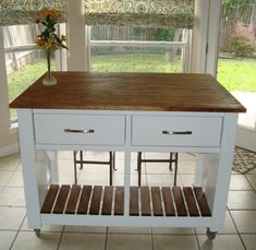 Rustic X Kitchen Island - DONE! | Do It Yourself Home Projects from Ana White