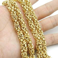 Cheap necklace wire, Buy Quality necklace gift directly from China necklace spike Suppliers: AMUMIU Top Quality Gold Chain Huge & Heavy Long Rope Stainless Steel Men's Chain Necklace Link Wholesale Mens Chain Necklace, Necklace Chain Lengths, Necklace Types, Chain Necklaces, Chain Jewelry, Statement Necklaces, Fashion Jewelry Necklaces, Fashion Necklace, Gold Jewelry