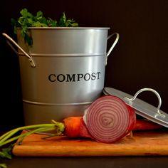 fabcom 2in1 compost bucket silver
