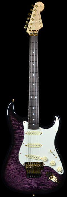 Fender Masterbuilt Yuriy Shishkov Purple Trans Burst Quilt Top Stratocaster | Electric Guitars | Wild West Guitars
