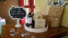 Wine themed bridal shower - anniversary wine guest book
