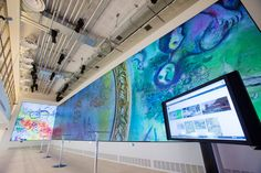 An interactive high-resolution digitized image of Marc Chagall's painting from the ceiling of the Paris Opera at the Google Cultural Institute in Paris allows visitors to zoom into details.
