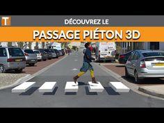 Passage piéton thermocollé T SIGN - La pose Passage Piéton, Poses, Html, 3d, Signs, Underfloor Heating, Heat Pump System, Welding Helmet, Speed Bump