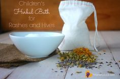 Does your child have a rash or hives? Redness, inflammation, pain, itching? Here is how to relieve the symptoms naturally with an easy herbal bath that helps reduce and soothe rashes and hives. via http://MamaNatural.com