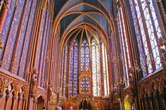 PARIS: Sainte Chapelle - The Holy Chapel. 8,50€ (to avoid lines by combo ticket at Conciergerie next door for extra 5€) Open 9am-6pm
