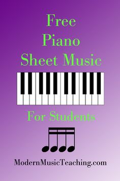 Free Piano Sheet Music For Piano Students & Teachers