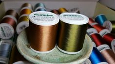 Madeira Rayon Embroidery Thread Lot of 2 each Col. 1057 and Col. Machine Embroidery Thread, Nespresso, Wood