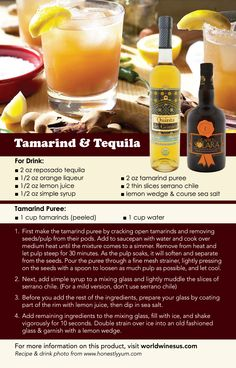 Impress your friends with your 'mixology prowess' by cooking up a few of these tamarind & tequila drinks. Tamaridno has filled my memories through the years, whether it was those tamarindo lollipops with limón & chile or that famous Jarritos tamarindo drink. Bring back the goodness of the real tamarind pod and intensify the flavor with a golden reposado tequila. A bit more elbow grease is involved to reproduce this drink, but the end result is a beautiful blend of sweet, sour and spicy!