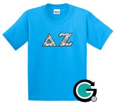 CUSTOM Color Me Stitched Greek (Sorority or Fraternity) Letter T Shirt -- Color your own letters! by GoneGreek on Etsy