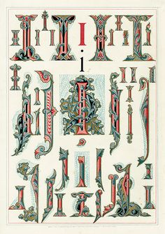Owen Jones Alphabet 1864/letter I