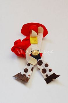 Disney Toy Story Jessie ribbon sculpture Hair Clip