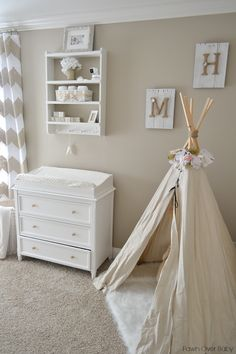 Project Nursery - Rustic Neutral Nursery with Teepee