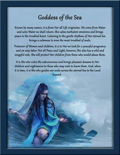 Goddess of the sea wiccan/pagan