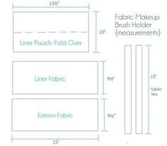 fabric holder measurements