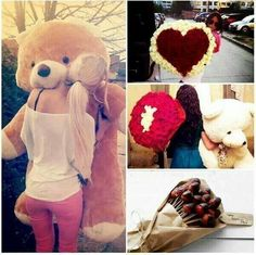 a giant teddy bear and some roses for Valentine's day that would be so amazing