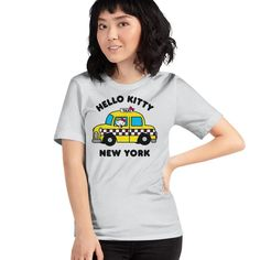 Hello Kitty New York Taxi Officially Licensed Sanrio Hello Kitty Apparel Fox Shirt, Sweater Hoodie, Shirts For Girls, Kids Shirts, Hello Kitty T Shirt, New York Taxi, Cute Fox, Sanrio Hello Kitty, Cute Tshirts