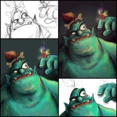 Goblin caracter drawing steps