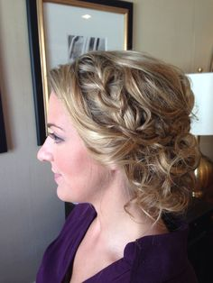 Bridesmaid updo with braid by www.claudinefay.com