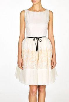 Ivory and Pink Floral Prom Dress by Red Valentino