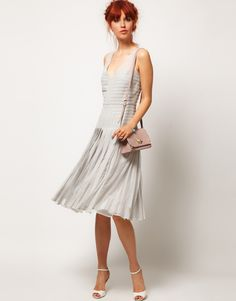 the detailing at the neckline and bodice is so beautiful...ASOS SALON Dress with Applique Panel