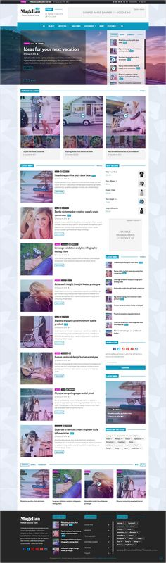 Magellan is wonderful #Bootstrap HTML #Template for #Video News & Reviews…