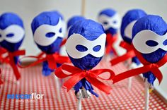 The Avengers Capt. America Party: Lollipops...change color for batman