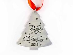 Baby's First Christmas Ornament Aluminum by hopeofmyheart on Etsy