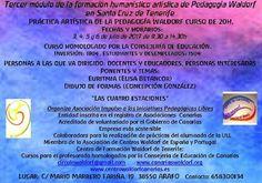 En Tenerife!!! Una gran oportunidad para quienes puedan asistir