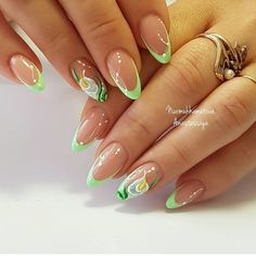 Gorgeous multi colored manicure Nails Inspiration, Fall Nails, My Nails, How To Do . Nail Art Designs, Latest Nail Designs, French Nail Designs, Latest Nail Art, French Nails, Ongles Roses Clairs, Cute Nails, My Nails, Nail Manicure