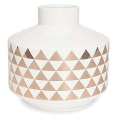 GAMI ceramic triangle motif vase H 19 cm