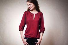 Gaia Shirt bordeaux von Mirastern auf DaWanda.com