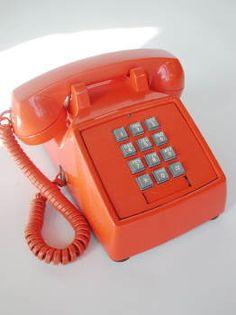 #orange telephone #vintage