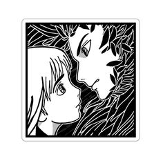 Howl and Sophie - Howl's Moving Castle - Original Illustration Vinyl Sticker Studio Ghibli Tattoo, Studio Ghibli Art, Studio Ghibli Movies, Sophie Howl's Moving Castle, Howls Moving Castle, Anime Stickers, Cute Stickers, Howl's Moving Castle Tattoo, Mononoke