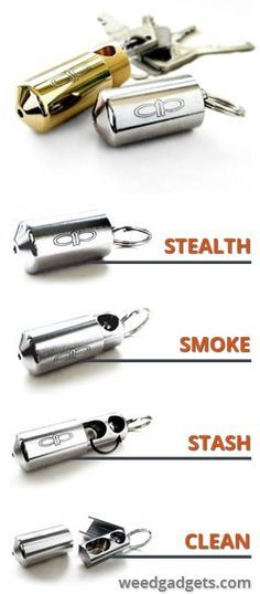 Awesome little stealth keychain pipe on Weedgadgets.com