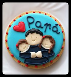 Birthday Cake For Papa, Birthday Cookies, Cupcake Cookies, Pretty Cakes, Cute Cakes, Happy Fathers Day Cake, Cake Designs For Boy, Cake For Husband, Dad Cake