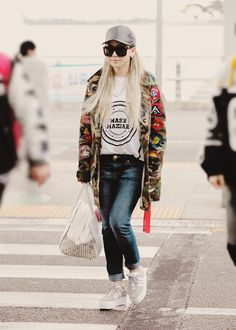CL airport fashion