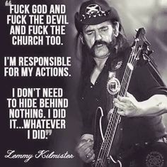 Lemmy Kilmister, 1945-2015. Rest in Peace, and stay Rock'n'Roll!