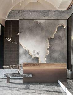 Office Interior Design, Office Interiors, Interior Design Inspiration, Sales Center, Mural Painting, Commercial Interiors, Custom Furniture, Glass Art, Wall Decor