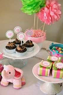 Real Party: Pink Elephant Baby Shower — Frog Prince Paperie