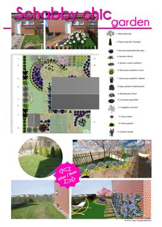 Small suburban garden inspired by schabby chic and Provencal style. Dominant plants are lavender, heuchera and perovskia. Design in a simple and tasteful way in MyGreenSpace application.  Want to create your own design? Go to http://mygreenspace.pl/en .