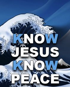 Know Jesus, Know Peace. No Jesus, No Peace. (as background screen for Apple Watch). If you have an Apple Watch, this image will fit both Apple Watch size screens.