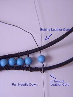 2 cordones unidos por cuentas