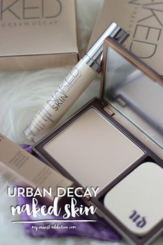Urban Decay Naked Skin   Powder and Concealer Review and Swatches