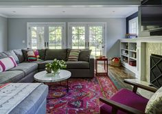 Living room designs with nuLOOM's Vintage Mackenzie!