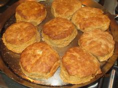 The whole wheat gives these biscuits a nutty flavor. Patting and folding the dough makes the biscuits flaky too.