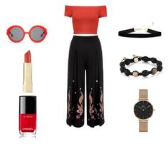 """Untitled #175"" by agraves80 on Polyvore featuring Temperley London, Alice + Olivia, Preen, Chanel and Daniel Wellington"